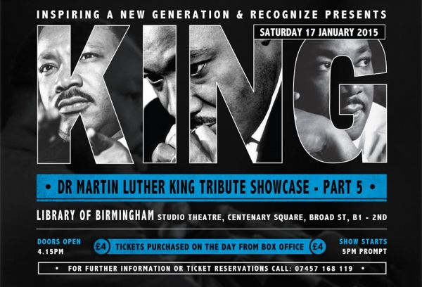 Dr King , Recognize, MLk, Birmingham, The Library of Birmingham