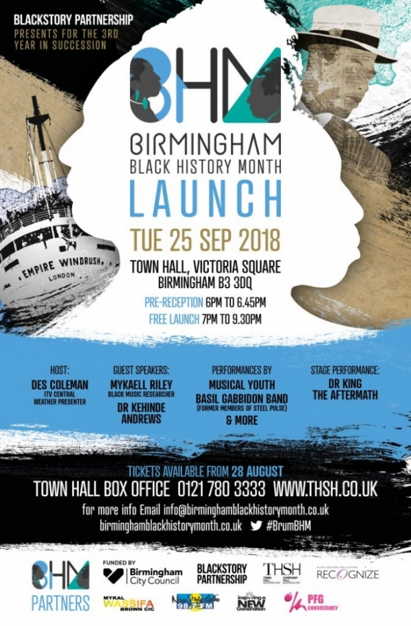bhm 2018, Launch, Birmingham Black history month
